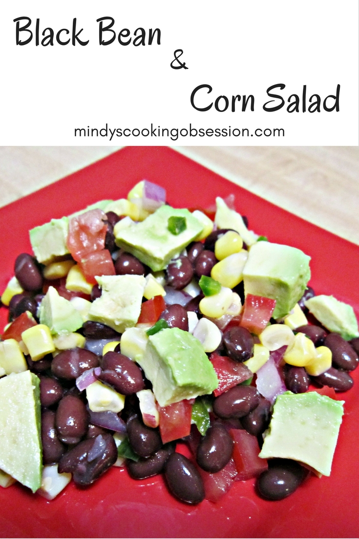 Black Bean & Corn Salad is easy and delicious. It is packed with vitamins and minerals and the avocado and lime juice give it a fresh flavor.