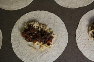 chicken & black bean burrito