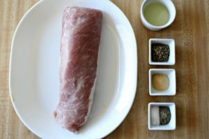 Herb Roasted Pork Tenderloin: All you need is salt, pepper, Italian seasoning, garlic powder, and olive oil to make this tender and juicy entrée.