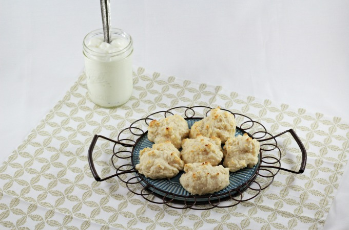 Looking for a light and easy drop biscuit recipe? This recipe was adapted from a Pillsbury cookbook and uses low-fat plain yogurt making it healthier.
