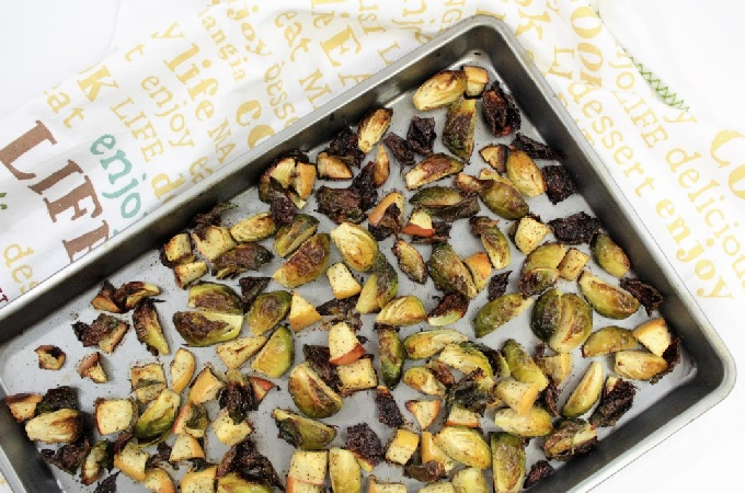 All you need are Brussels sprouts, apples, olive oil, salt and pepper to make this quick, easy and delicious recipe for Burnt Brussels Sprouts and Apples.