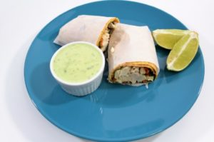 These Chicken Wraps combine chicken, lettuce, carrots, cucumber, and Avocado Lime Ranch Dressing and make a great light lunch or dinner.