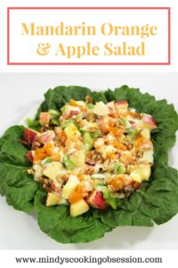 Mandarin oranges, apple, celery, walnuts, mayonnaise, milk, a lemon, and sugar are all you need to make this delicious Mandarin Orange & Apple Salad.