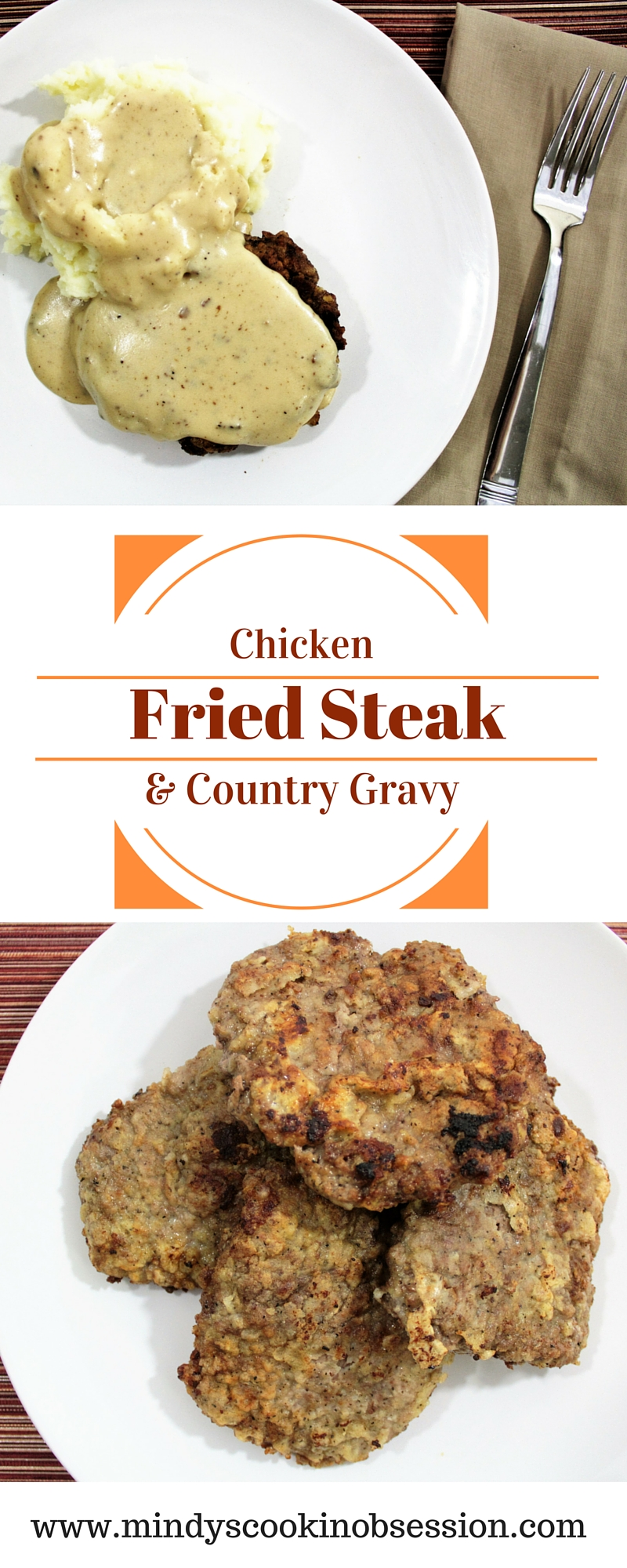 Chicken Fried Steak & Country Gravy is easy to make at home in about 30 minutes. You do not have to go to a restaurant to eat this classic comfort food.