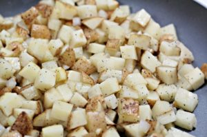 These Fried Potatoes (taters) are tender and fluffy on the inside, crisp and flavorful on the outside. Easy and worth the time it takes to make them.