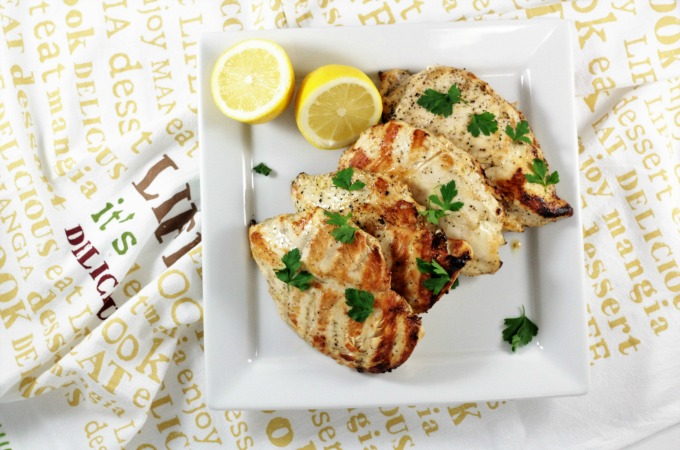 Lemon Pepper Chicken is tangy and peppery. A 6-ingredient lemon pepper marinade makes the chicken tender and juicy. Great cooked inside or grilled outdoors.