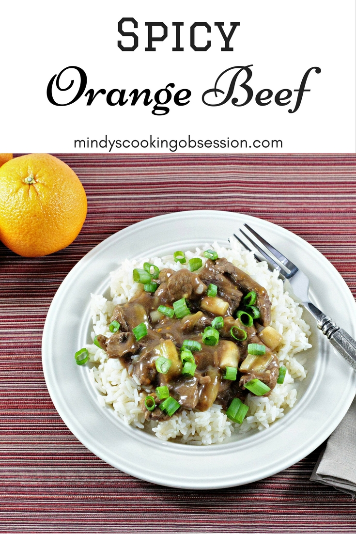 Spicy Orange Beef is light and healthy. Fresh orange juice and soy sauce are the base for the sauce. Crushed red pepper gives it a kick. Serve over rice.