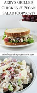 Arby's Grilled Chicken & Pecan Salad (Copycat) features chicken, grapes, apples, celery, mayo, yogurt, salt, and pepper. It is healthy and delicious!