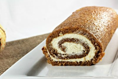Libby's Pumpkin Roll features spiced pumpkin cake filled with a mixture of cream cheese, butter, powdered sugar, and vanilla. It is easy and so impressive!