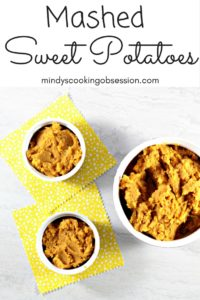 Mashed Sweet Potatoes are flavored with honey, cinnamon, butter, milk, and salt. Just 6 ingredients. Great for Thanksgiving or any night of the week!