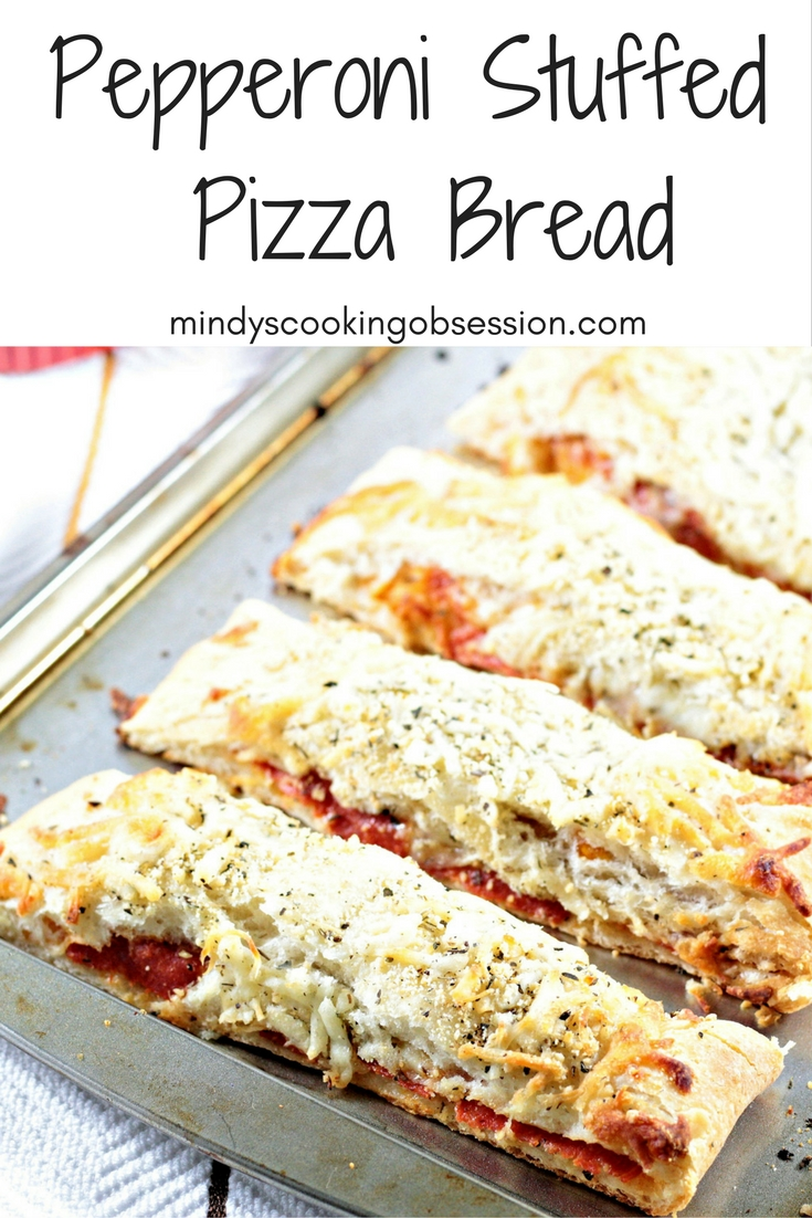 Pepperoni Stuffed Pizza Bread | Mindy\'s Cooking Obsession