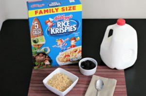Mint Chocolate Rice Krispies® Drops combine rice cereal, mint chocolate morsels, and chocolate chips to make an easy treat for holiday or any occasion.