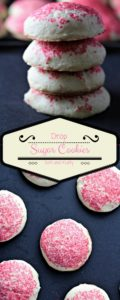 Drop Sugar Cookies are soft and fluffy. They are so easy to make and can be made for different holidays and occasions by changing the colored sugar.