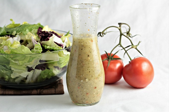 Olive Garden Creamy Italian Dressing (copycat) transforms store bought salad dressing into a creamy and tangy dressing like the popular restaurant.