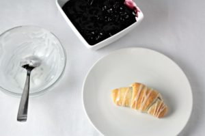 Blackberry Crescent Roll Turnovers are so yummy! All you need is store bought crescent rolls, pie filling, powdered sugar and milk to make this easy treat.