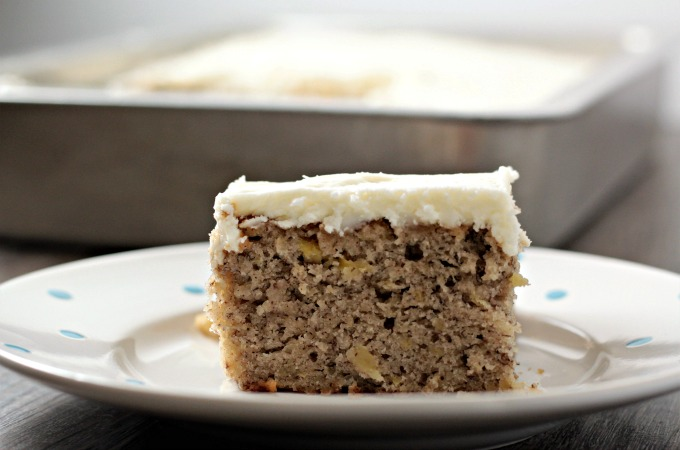 Banana Spice Cake With Cream Cheese Frosting