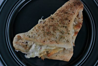 Chicken Ranch Popovers feature leftover or rotisserie chicken, cheese, ranch dressing and McCormick Garlic Ranch seasoning baked in a pizza dough turnover.