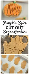 Pumpkin Spice Sugar Cookies are easy to roll and cut out into your favorite shapes. The dough is tasty and easy to work with. A great seasonal cookie!