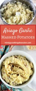 Asiago Garlic Mashed Potatoes combine red potatoes, authentic cheese, garlic, butter, milk, salt and pepper to make an easy and delicious side dish.