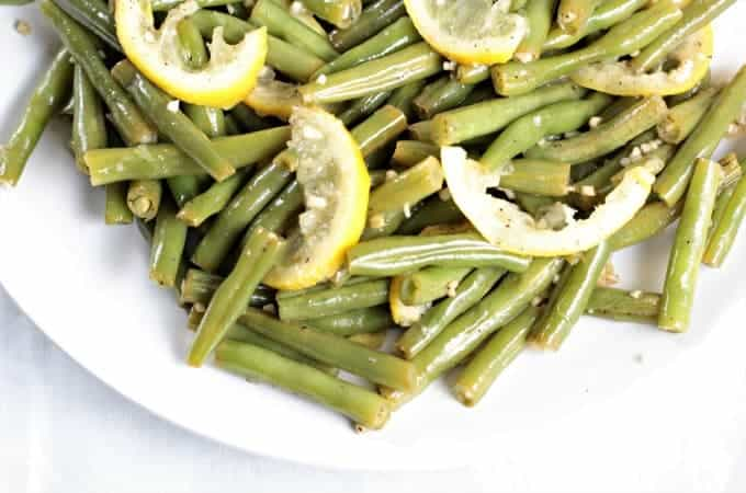 Garlic Lemon Fresh Green Beans - Mindy's Cooking Obsession